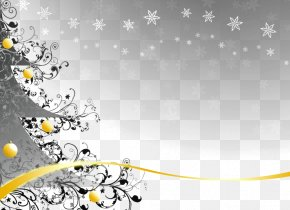 Christmas Background - Template Gift Card Christmas Voucher PNG