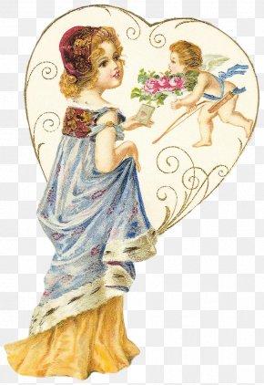 Postcard - Love Heart Decoupage Valentine's Day Vinegar Valentines PNG