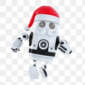 Robot - Robot Running Santa Android Stock Photography Stock Illustration PNG