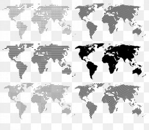 Five Continents Of The World Map - World Map Globe PNG