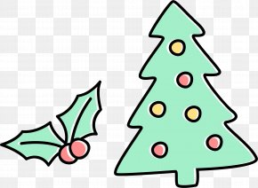 Christmas Tree And Yin Tao - Christmas Tree Santa Claus Clip Art PNG
