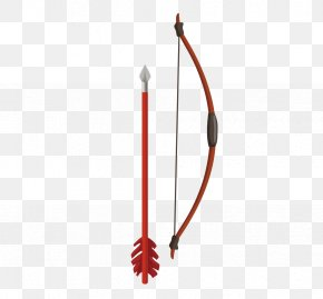 Hand Drawn Bow And Arrow Vector Material - Euclidean Vector Bow And Arrow PNG