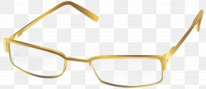 Gold Glasses Transparent Clip Art Image - Sunglasses Clip Art PNG