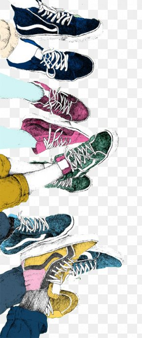 Painted Shoes Collection - Drawing Illustrator Art Watercolor Painting Illustration PNG