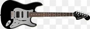 Electric Guitar - Fender Stratocaster Fender Bullet Squier Deluxe Hot Rails Stratocaster Guitar PNG