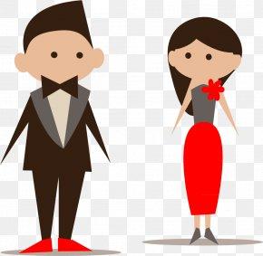 Cartoon Bride And Groom Vector Material - Bridesmaid Wedding Invitation Icon PNG