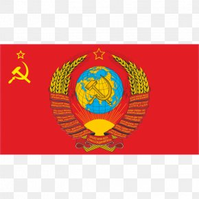 Soviet Union - Flag Of The Soviet Union State Emblem Of The Soviet Union Hammer And Sickle PNG