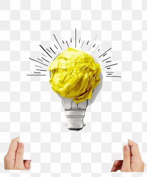 Light Bulb - Paper Incandescent Light Bulb Creativity Lamp PNG