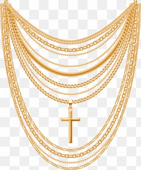 Vector Gold Necklace - Gold Necklace Euclidean Vector Chain PNG