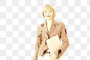 Jacket Sitting - Beige Blond Outerwear Sleeve Fashion Design PNG