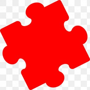 Pieces Of Red - Jigsaw Puzzles Clip Art PNG
