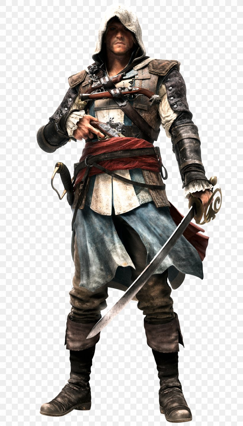 Assassin's Creed IV: Black Flag Assassin's Creed III Edward Kenway Character, PNG, 2400x4200px, Assassin S Creed Iv Black Flag, Action Figure, Armour, Assassin S Creed, Assassin S Creed Iii Download Free