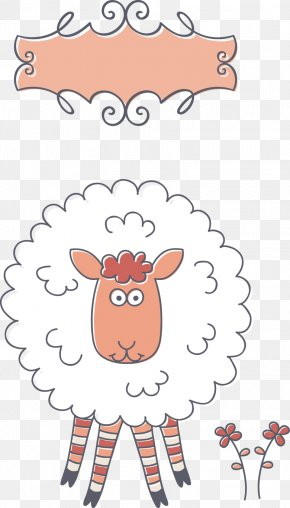 Painted Sheep Birthday Card Vector - Sheep Birthday Greeting Card E-card PNG