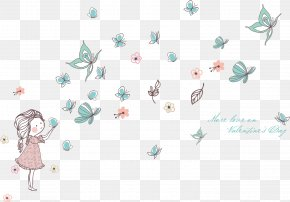 Wall Decal - Butterfly Wall Decal Sticker Drawing Child PNG