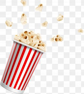 Red Cartoon Popcorn - Cinematography Film Illustration PNG