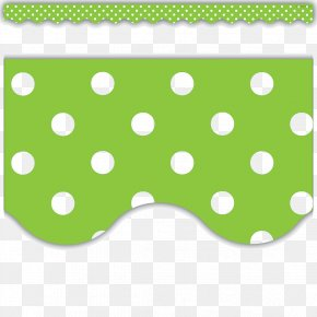 Lime Border Frame File - Polka Dot Blue White Clip Art PNG