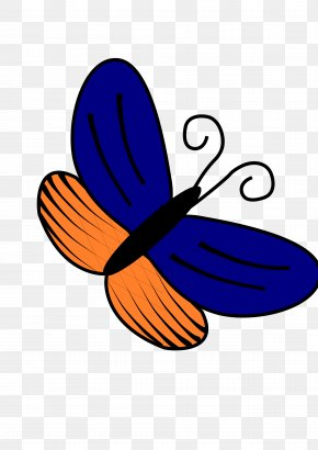 Adobe Illustrator Clipart - Butterfly Blue Orange Clip Art PNG