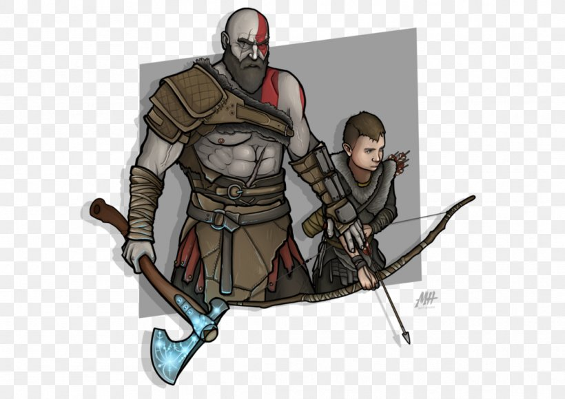 God Of War Atreus Kratos Drawing Png 1063x752px God Of
