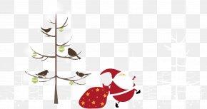 Cartoon Tree And Santa Claus - Lam Tsuen Wishing Trees Santa Claus Christmas Ornament PNG