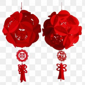 Red Lantern Ornaments Wedding - Lantern Christmas Ornament Red Chinese New Year PNG