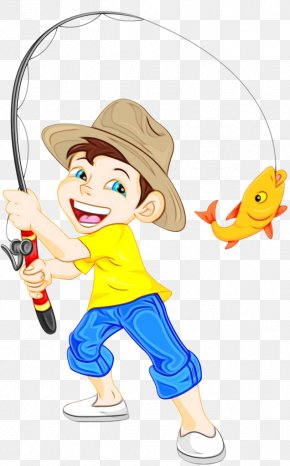 Drawing Surf Fishing - Watercolor Drawing PNG