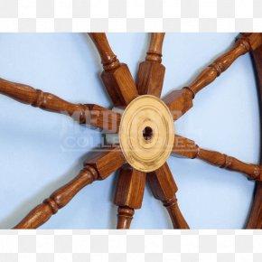 Wooden Wheel - Wood Ship's Wheel Brass Maritime Transport PNG