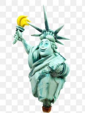 Banana Statue Of Liberty - Comics Cartoon Illustration PNG