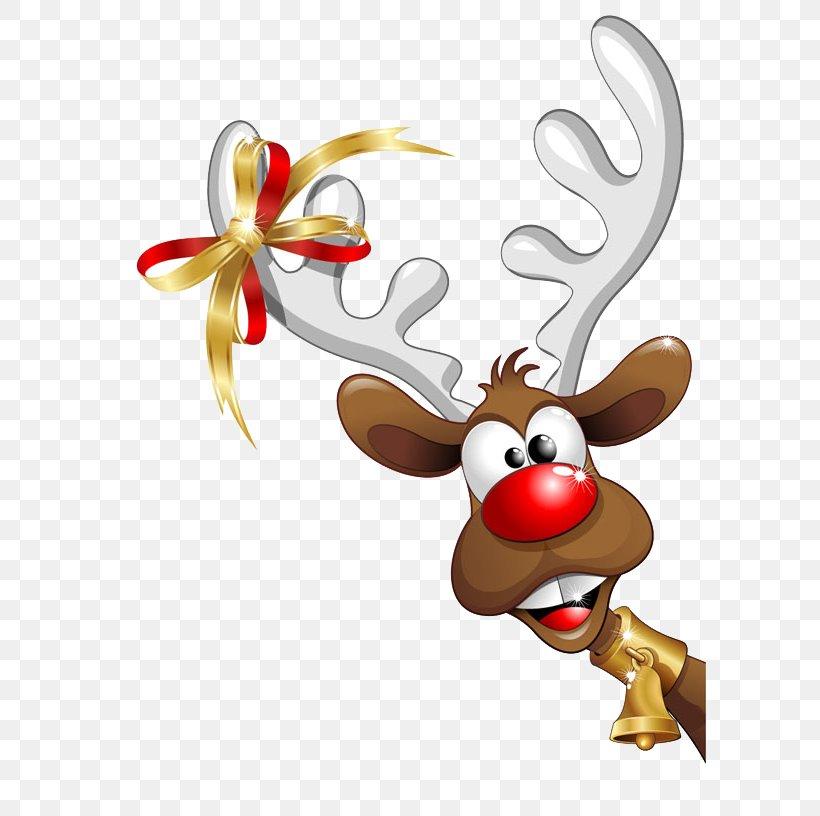Santa Claus Christmas Funny, PNG, 599x816px, Santa Claus, Antler, Cartoon, Christmas, Christmas And Holiday Season Download Free