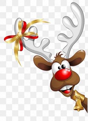 Christmas Reindeer - Santa Claus Christmas Funny PNG
