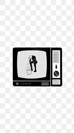 Hand-drawn Elements Of Computer TV - Computer Black And White Wallpaper PNG