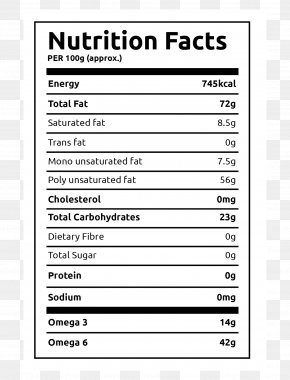 Nutrition Label - Nutrition Facts Label Protein Food Finger Millet PNG