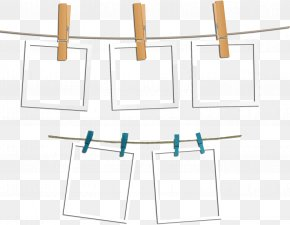 Hanging Paper - Paper Picture Frame PNG