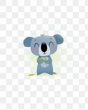 Cartoon Koala - Bear Giant Panda Art Printmaking Illustration PNG