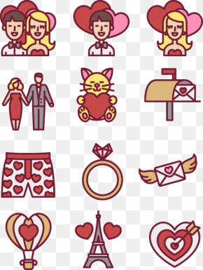 Hand Drawn Heart-shaped Diamond Ring Lovers Element - Valentines Day Euclidean Vector Icon PNG