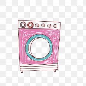 Vector Red Washing Machine Illustration - Washing Machine Clothes Dryer Illustration PNG