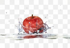 Apple In Water - Apple Stock Photography Water Splash Clip Art PNG