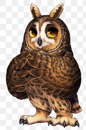 Tags - Great Horned Owl Bird Of Prey Long-eared Owl PNG