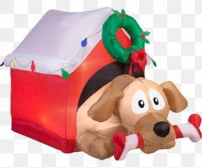 Dog - Dog Santa Claus Candy Cane Christmas Decoration PNG