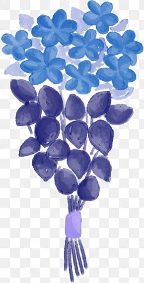 Abstract Blue Flower Pattern - Euclidean Vector Flower PNG