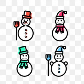 Flat Snowman - Snowman Download Flat Design Icon PNG