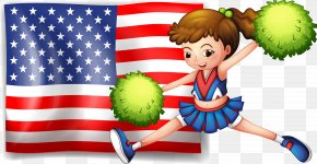 American Cheerleaders Baby - Flag Of The United States Clip Art PNG