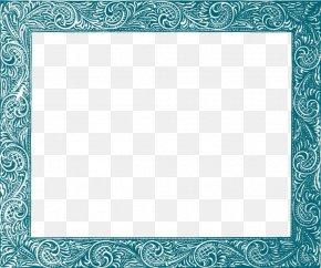 Teal Border Frame Free Download - Picture Frame Clip Art PNG