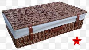 Storage Basket - Hamper Wicker Basket Bed Lid PNG