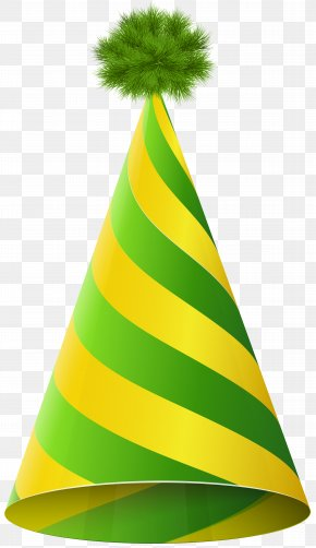 Party Hat Green Yellow Transparent Clip Art Image - Party Hat Birthday Clip Art PNG