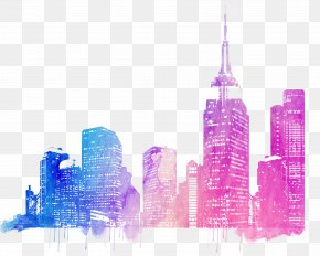 Colorful City Skyline - Cities: Skylines Drawing PNG