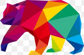 Vector Hand Colored Polar Bear Icon - Bear Euclidean Vector Icon PNG