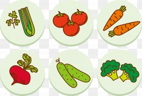 Fruit And Vegetable Collection Vector - Fruit Vegetable Cartoon Drawing PNG