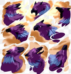 Beautiful Birds Flying Together - Illustration Graphics Feather Purple Design PNG