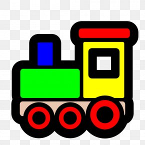 Train Engine Clipart - Wooden Toy Train Rail Transport Clip Art PNG