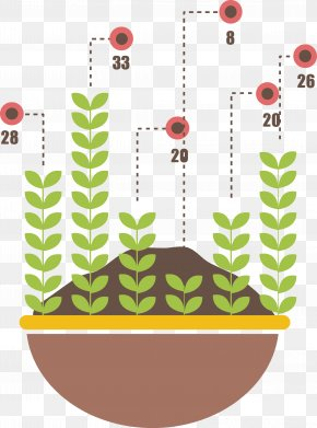 Vector Saplings Column Chart - Bar Chart Download Illustration PNG
